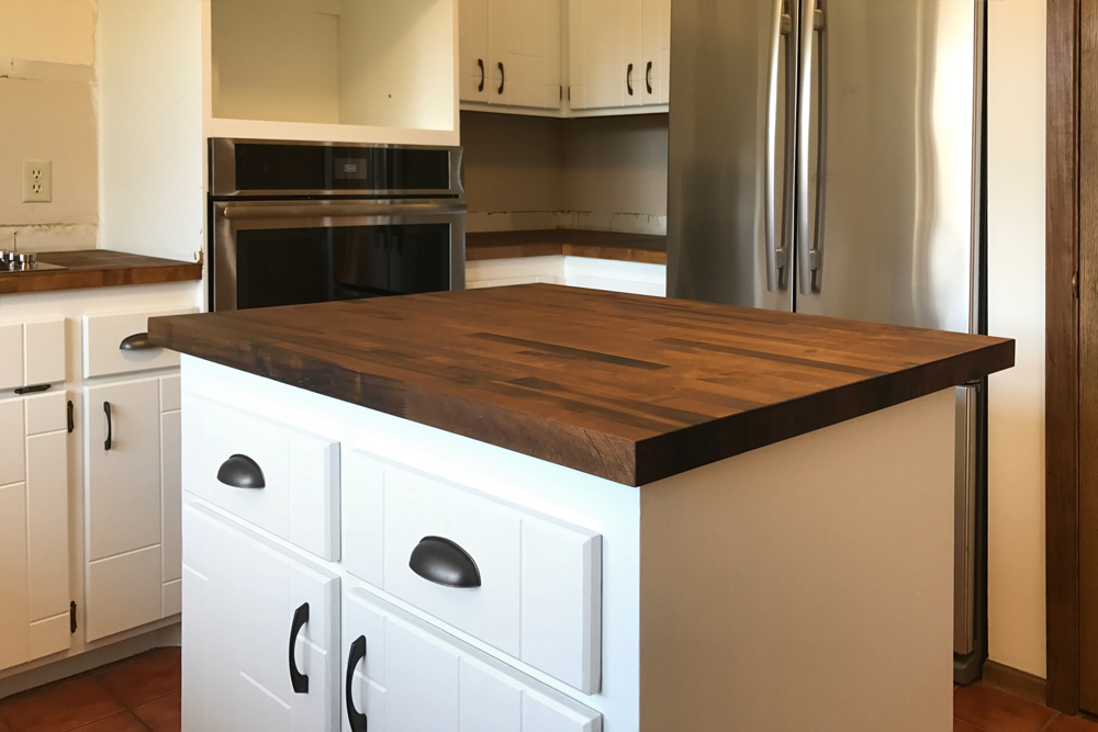 marvelous dark stained wood countertops 8